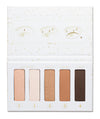 FINE FLEKK Eye Shadow Palette and 4-Piece Brush Set
