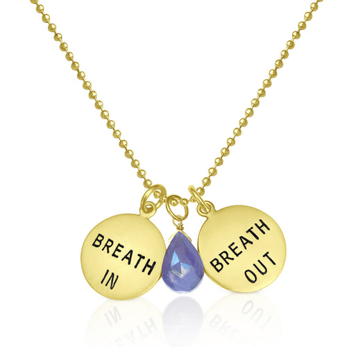 Breath In - Breath Out Necklace with Tanzanite to Celebrate Individuality