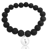 My Story isn't Over Lava Stone Bracelet with Semicolon