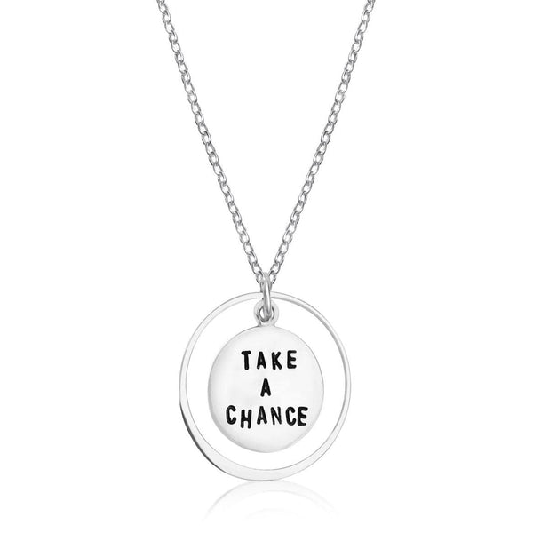 Inspirational Sterling Silver Take a Chance Necklace   Is there something important in your life that you want? Believe that you have it, and you will have it.