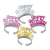 Happy Birthday Tiaras - assorted colors