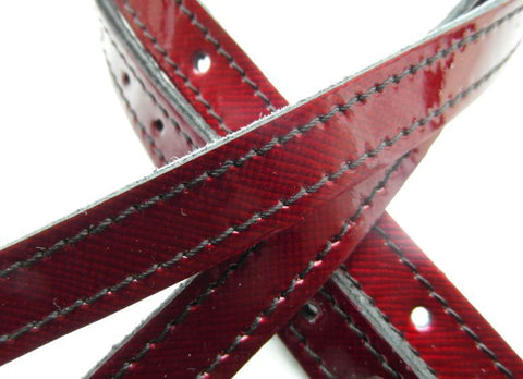 Red Patent Spur Strap