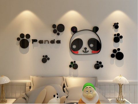 3D Panda Acrylic Wall Sticker/Decor
