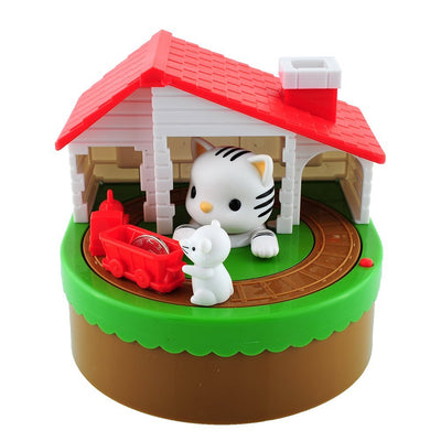 Cat and Mouse Novelty Coin Stealing Piggy Bank