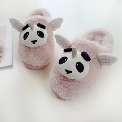 Kawaii Panda Unicorn 'Pandicorn' Plush Slippers