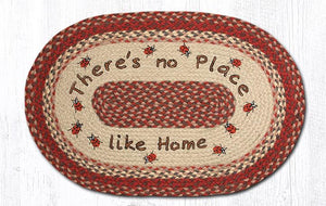 "No Place Like Home Braided Oval Rug 20""x 30"""