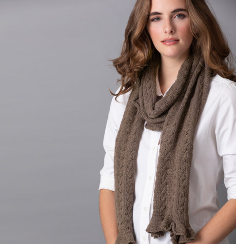 Lorelie Cabled Scarf