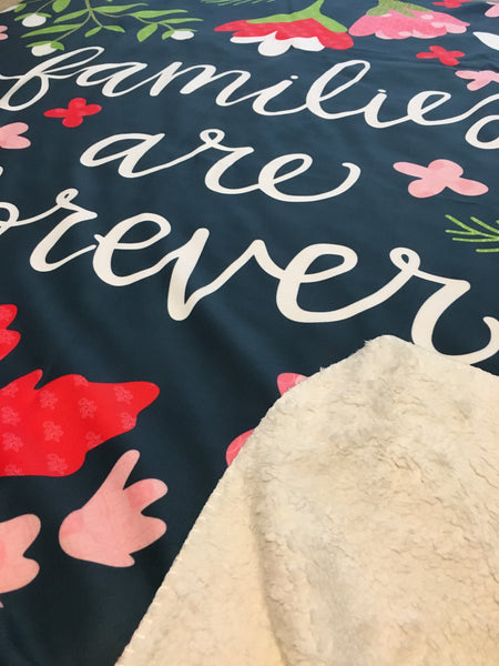 Families Are Forever Ultra Plush Fleece Blanket
