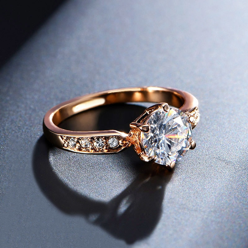 Beautifull Rose Gold Plated Ring