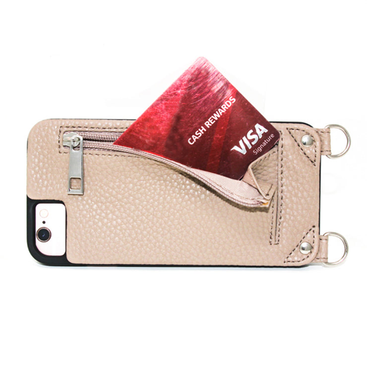 Jolene | Iphone 6/ 6S /7 /8 cases | Taupe vegan leather strap | Hera cases