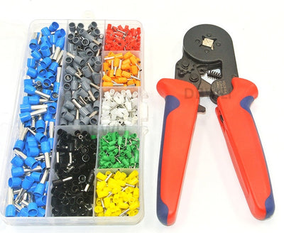 800 Piece  AWG 10-22 Crimp Terminal Set with Optional Crimp Pliers from PMD Way with free delivery worldwide