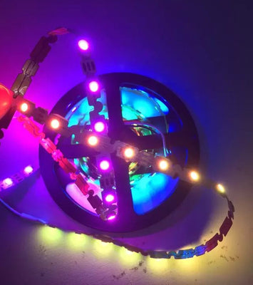 Bendable SK6812 Addressable RGB LED Strip in rolls of 5m from PMD Way with free delivery worldwide