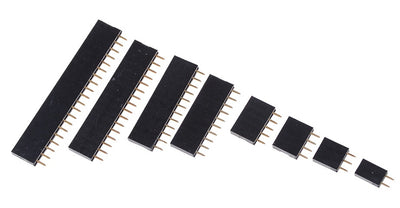 Female Single Row Header Strips - Various Sizes - 20 Pack from PMD Way with free delivery worldwide