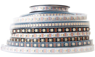 SK6812 RGBW LED Strip in various densities and colors from PMD Way with free delivery worldwide