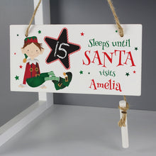 Load image into Gallery viewer, Christmas Elf Chalk Countdown Sign