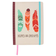Load image into Gallery viewer, Hopes & Dreams Feather A5 Lined Notebook