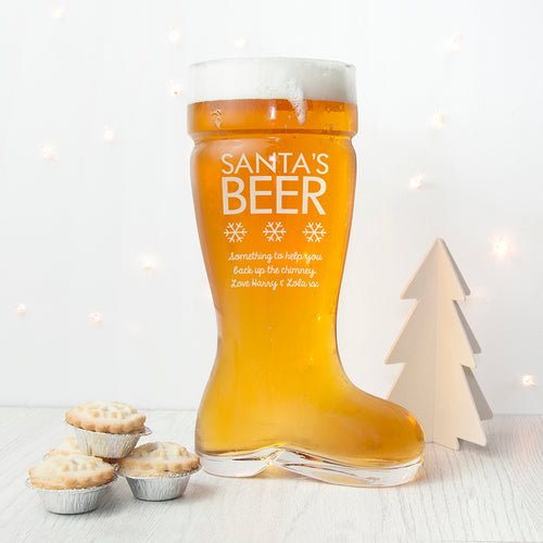 Large Santa's Boot Beer Glass