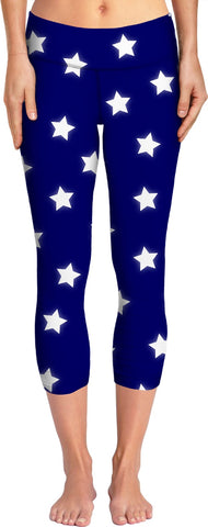 Stars - Navy Yoga Pants