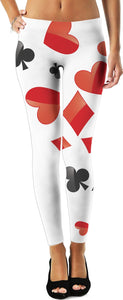 A Deck Red Black and White Women's Leggings