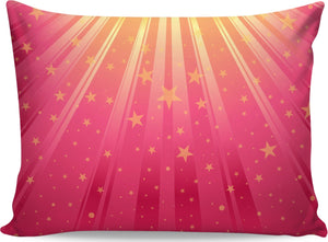 Yellow Sunburst On Pink Pillowcase