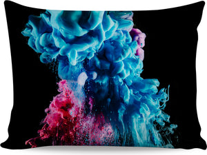 Blue and Pink Color Explosion Pillowcase