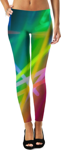 Abstract Glow Leggings
