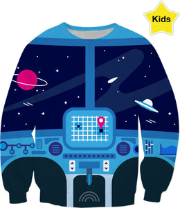 Spaceship Children's Sweatshirt
