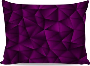 Purple Geometric Pillowcase