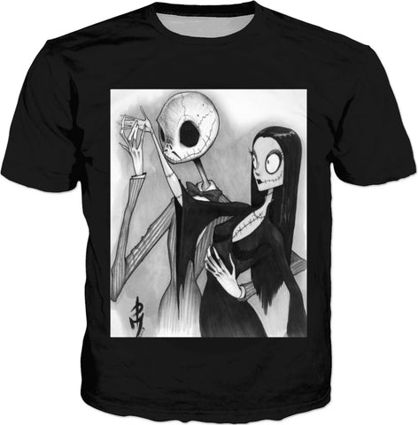 Addams Family Nightmare Before Xmas T-Shirt