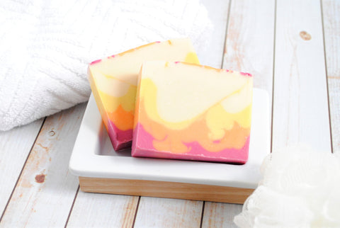 colorful honeysuckle soap
