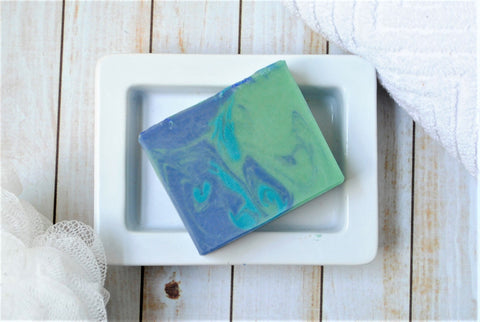Oceanside Sea Salt and Vetiver Scented Goat Milk Soap