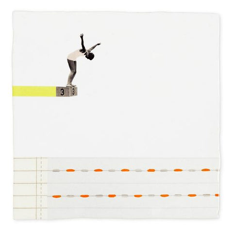 A Leap of Faith art tile by Story Tiles.