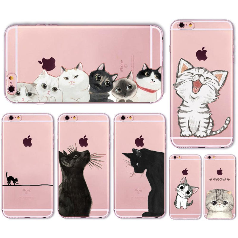 Cat Printed Aesthetic Iphone Cases
