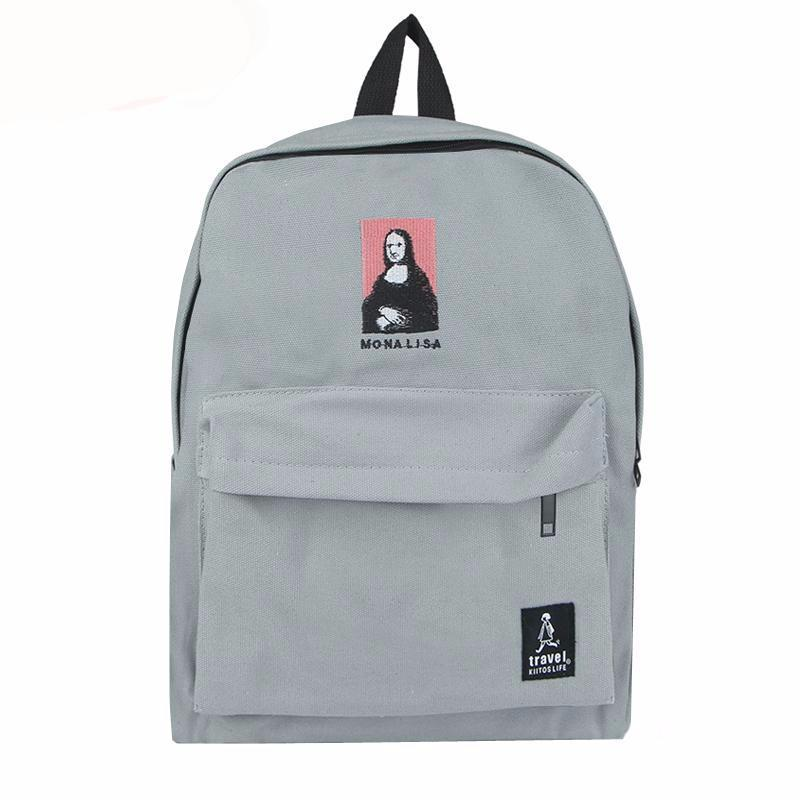 Embroidery Art Printed Aesthetic Backpack