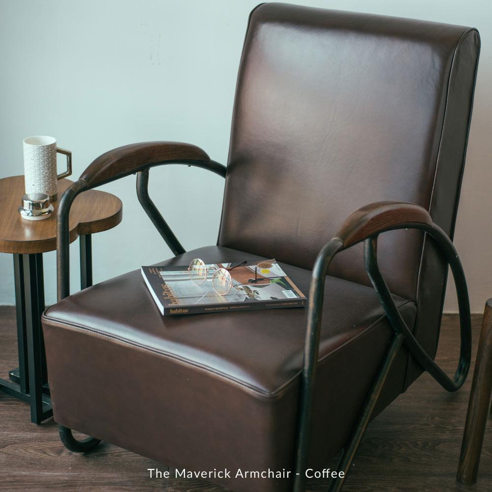 The Maverick Armchair - Hunter Green