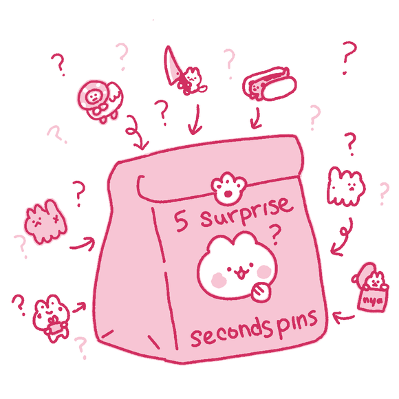Mystery Seconds Pins