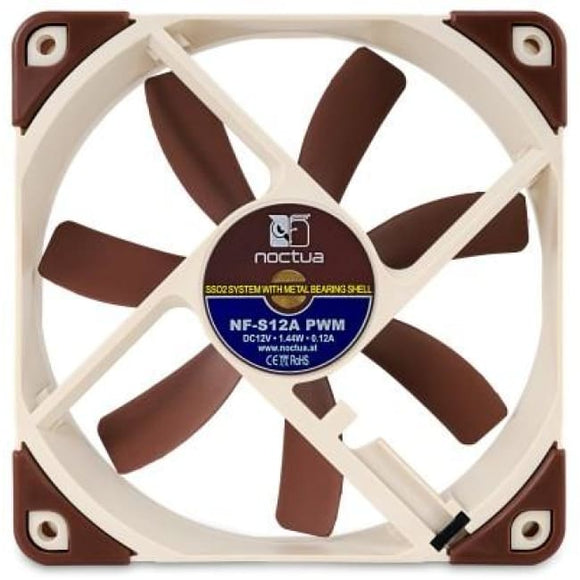 Noctua Nf-S12A Pwm Ultra Quiet 120Mm Pwm Cooling Pc Fan - Case Fan