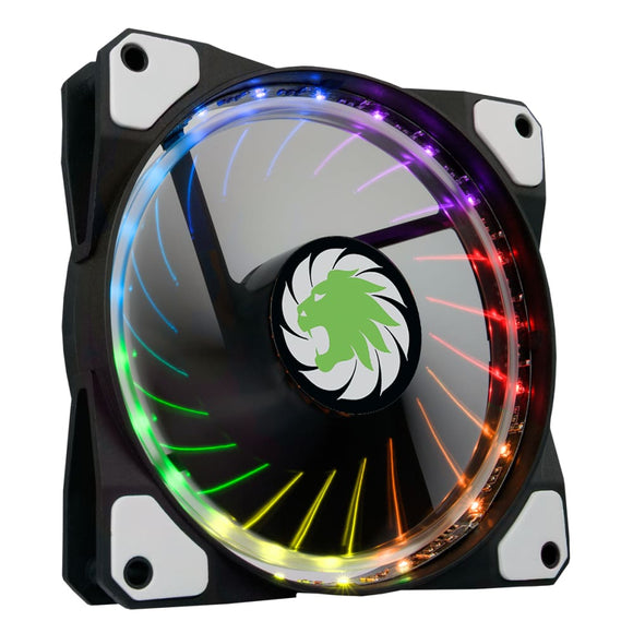 Vortex Rgb 12Cm Pc Cooling Fan Led & Ring Lighting 7 Colours 3 / 4 Pin - Case Fan