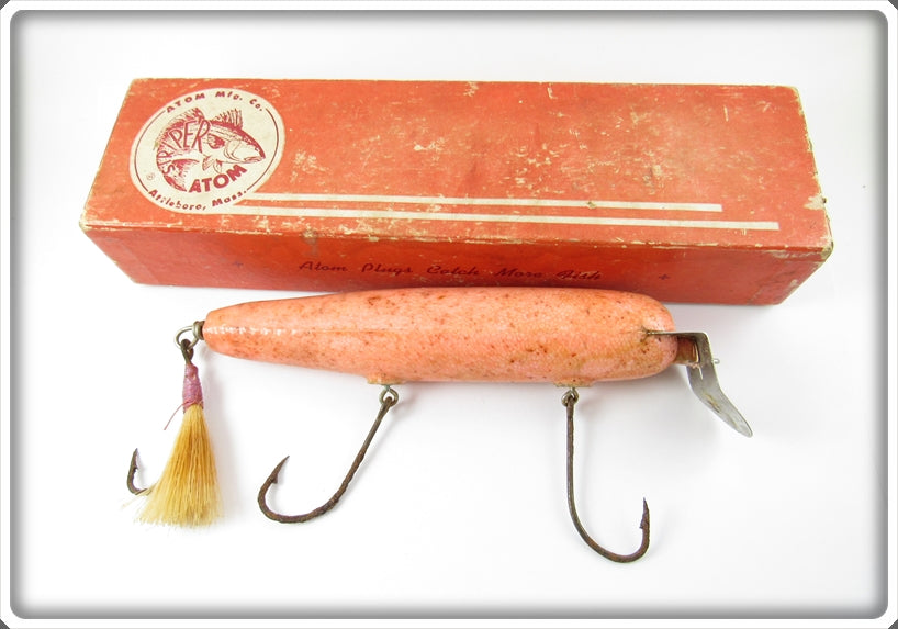 Atom Mfg Co Salmon Pink Striper Atom In Box