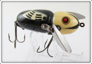Heddon BWH Black White Head Crazy Crawler