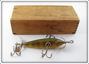 Shakespeare Yellow Perch Minnow In Correct Wooden Box
