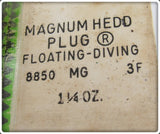 Heddon Sweepstakes Prize MG Golden Black Muskie Magnum Hedd Plug In Package