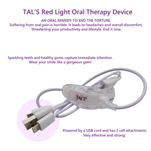 TAL'S Red Light Oral Health Care Device for tooth sensitivity, toothaches, reduction in bacteria
