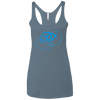 Sky Blue OBX Lyfe Ladies' Triblend Racerback Tank in 10 Colors