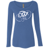 Cloud White OBX Lyfe Ladies' Triblend LS Scoop in 8 Colors