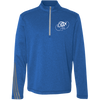 Embroidered Cloud White OBX Lyfe Adidas Men's Terry Heather 1/4 Zip in 5 Colors