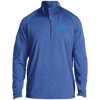 Sky Blue OBX Lyfe 1/2 Zip Raglan Performance Pullover in 10 Colors