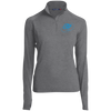 Sky Blue OBX Lyfe Women's 1/2 Zip Performance Pullover in 21 Colors