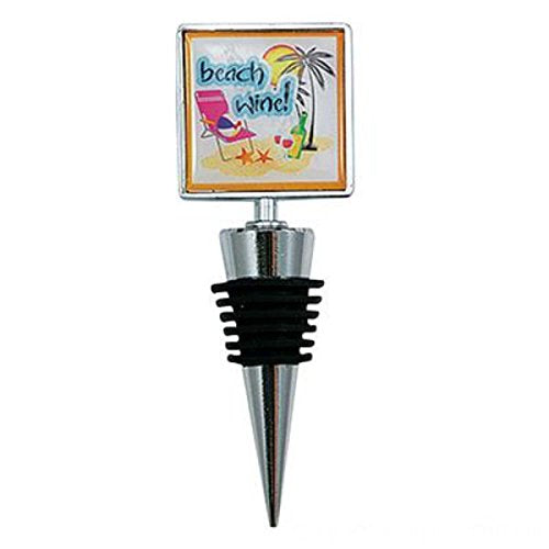 Wine Bottle Stoppers Gift (Beach Wine) - PlayKreative.com