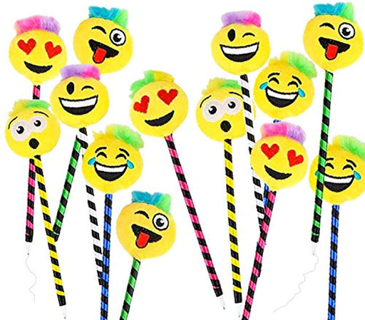 Emoji Plush Pens - Pack of 12